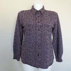The Territory Ahead Button Up Shirt Top Size Large